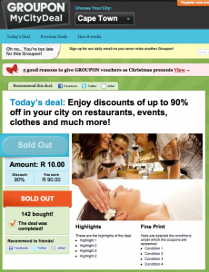 groupon mycitydeal south africa