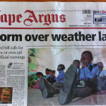 The SA weather service amendment bill in the Cape Argus